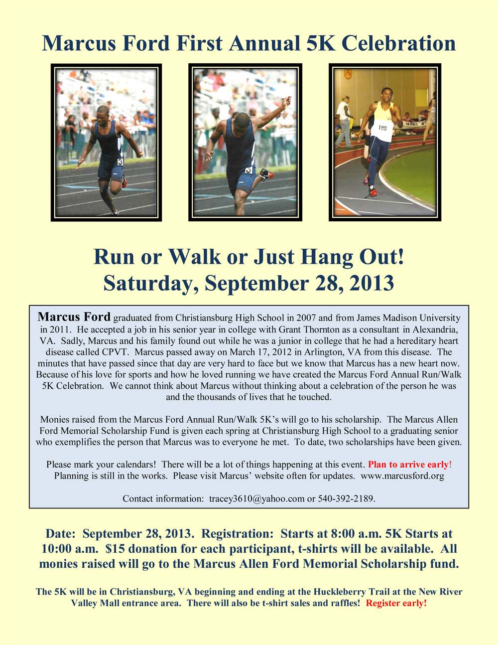 Marcus Ford 5K Flyer